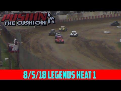 Angell Park Speedway - 8/5/18 - Legends - Heat 1