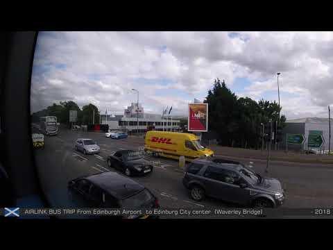100 AIRLINK BUS TRIP From Edinburgh Airport To Edinburg City Center Waverley Bridge - 796