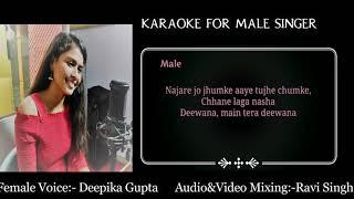 Dewana Main Tera Diwana Karaoke With Female Voice   Cover   Deepika Gupta  