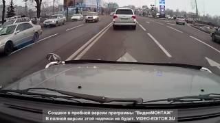 Очевидец заснял ДТП с участием полиции в Алматы