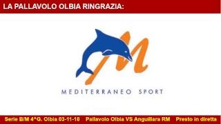 03/11/18 serie B - 4^g - Pallavolo Olbia VS Anguillara RM 3/1 - parte1