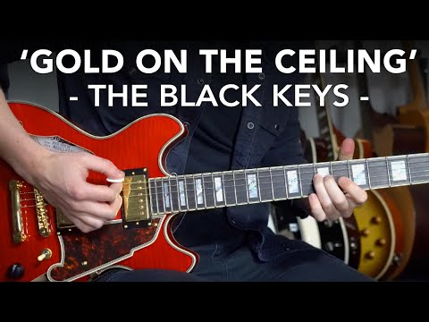 Gold On The Ceiling Guitar Lesson - Black Keys // how to play Blues Rock Lead Guitar