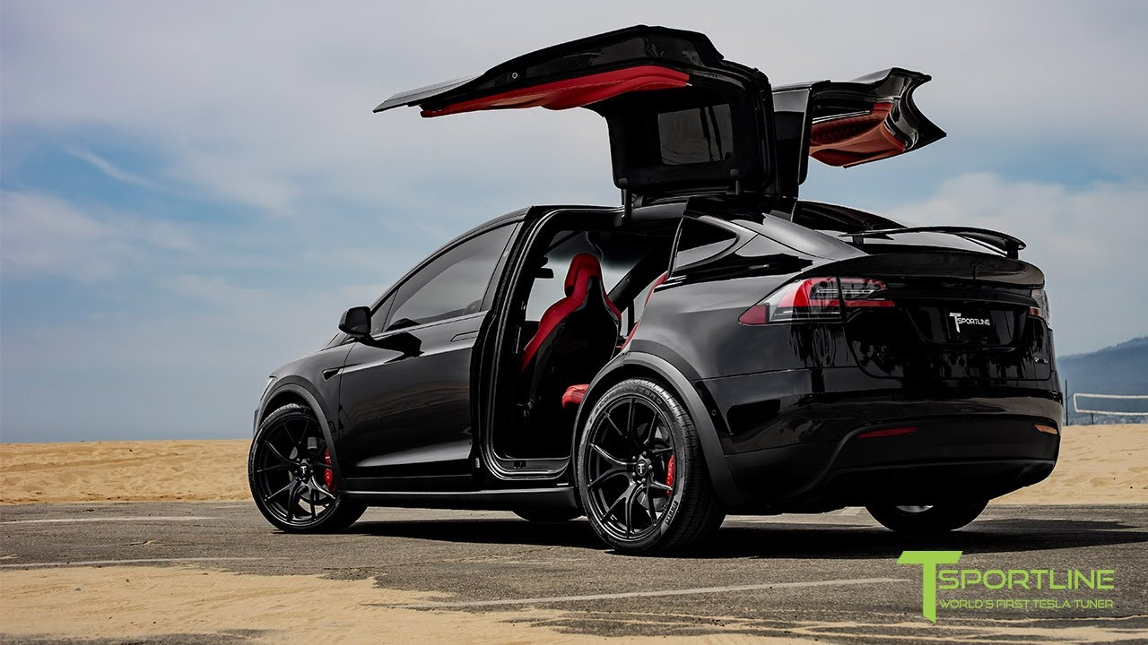 Tesla Model X P100d Black Fully Customized Exterior