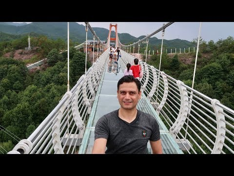Glass bridge Yiwu Jinhua Zhejiang China by Kabir Afridi