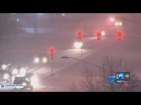 WAVY News 10 Team Coverage of Winter Weather 11 p.m. 1/28/14 Travel Video