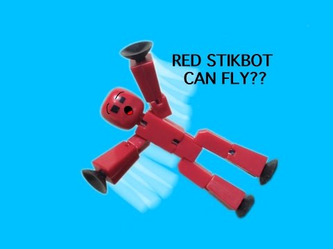RED STIKBOT CAN FLY?? (Stikbot Stop Motion Animation)