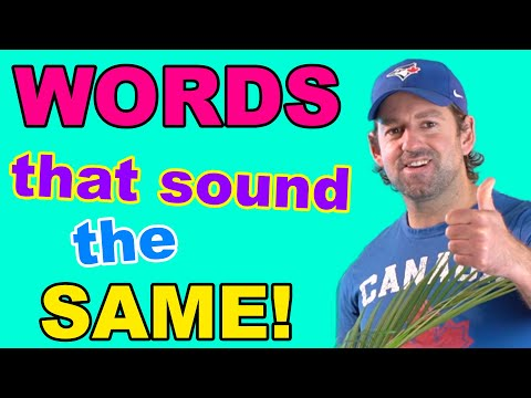 English Words That Sound The Same But Have Different Meanings