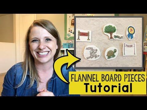 Flannel Board Story Pieces Tutorial | DIY Flannel Board Stories
