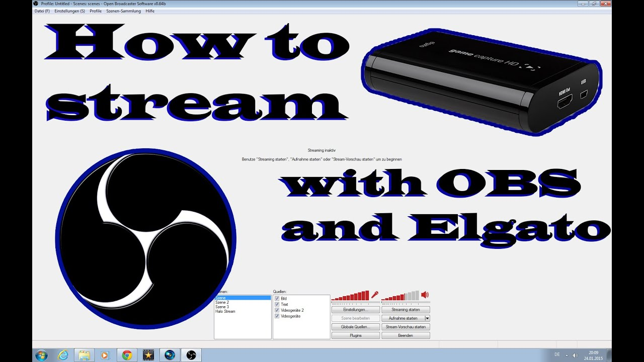 how to stream with obs
