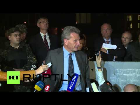"Ukraine: Gas crisis talks ""open issue"" despite agreement failure, says Oettinger"