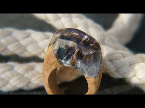 Ringe aus  Kunstharz und Holz - Secret Wood Rings - wood and resin rings