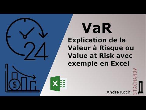 Explication De La Valeur à Risque (VaR) Ou Value At Risk Avec Exemple En Excel