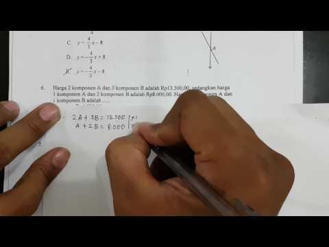 nomor-6-sistem-persamaan-linear-dua-variabel-|-pembahasan-soal-un-matematika-tahun-2015-smk-tkp