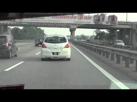 Drivelapse from Shah Alam to Kuala Lumpur International Airport (KLIA) in 5 minutes (day)