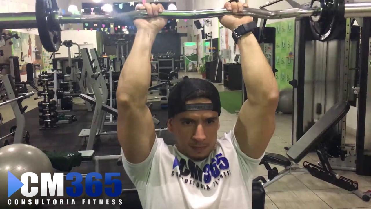 triceps frances com barra