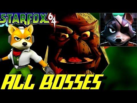 Star Fox 64 - All Bosses (No Damage)
