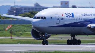 伊丹空港に響き渡るPW4000のエンジン音!
