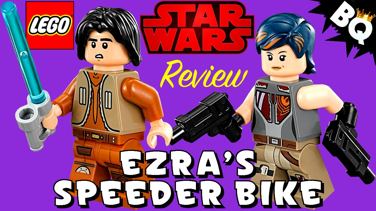lego star wars rebels ezra u0027s speeder bike 75090 review youtube