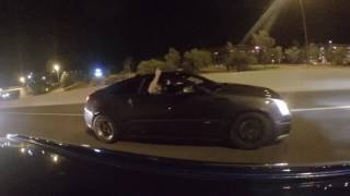 Turbo Mustang gets away from COPS after racing CTS-V