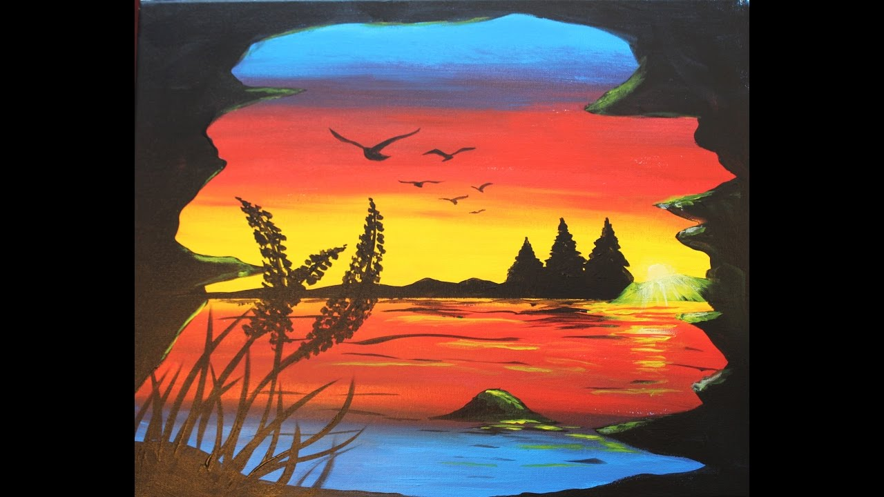 Painting Tree Beginner Acrylic Youtube