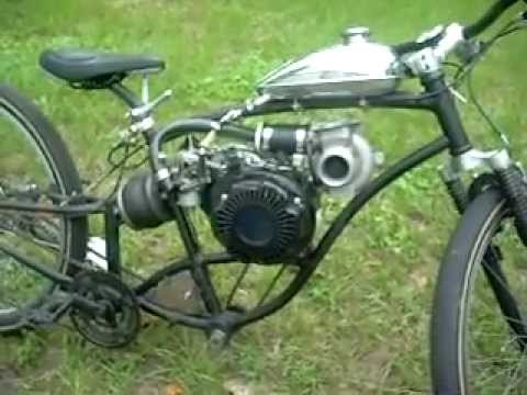turbocharged 4 stroke Motorized Bike