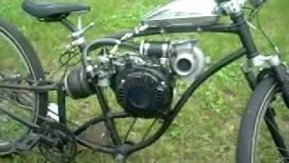 turbocharged 4 stroke Motorized Bike