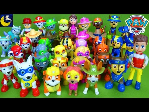 LOTS of Paw Patrol Pup Toys Marshall Chase Tracker Apollo Everest Rocky Rumble Zuma Skye Pup Toys