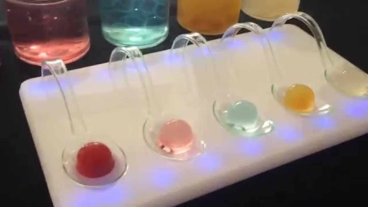 Recetas de cocteles moleculares