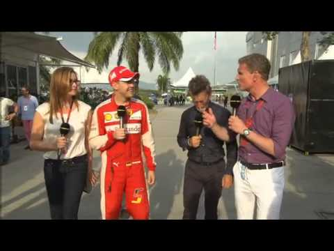Malaysia 2015 post race Vettel Interview
