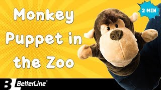 Monkey Hand Puppet at the Zoo Looking for Friends
