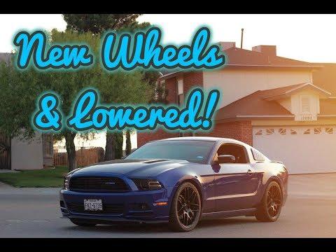 Finally NEW Wheels & Lowering My Mustang !!