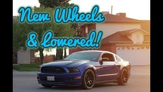 Finally NEW Wheels & Lowering My Mustang !!