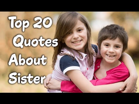 Brother And Sister Love Quotes Fascinating Top 20 Sister Quotes Sayings About Sisters & Siblings  Youtube