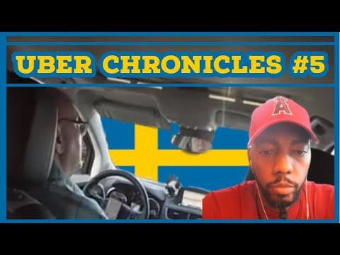 Black Man Completely Blows Elderly Swedish Guy's Mind! ((UBER CHRONICLES))