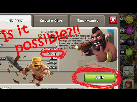 Clash of Clans | TIPS & TRICKS | How to Join a CLOSED Clan | Step By Step