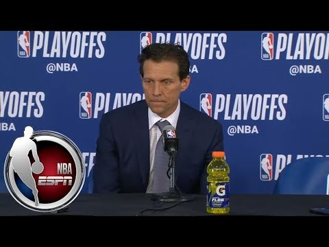 [FULL] Quin Snyder addresses death of Gregg Popovich's wife after Jazz-Thunder Game 2 | NBA on ESPN