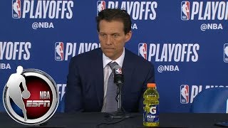 [FULL] Quin Snyder addresses death of Gregg Popovich's wife after Jazz-Thunder Game 2 | NBA on ESPN thumbnail
