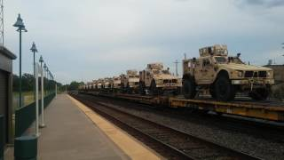 Here's yet another military train coming to Beaumont Texas August 1st 2016.