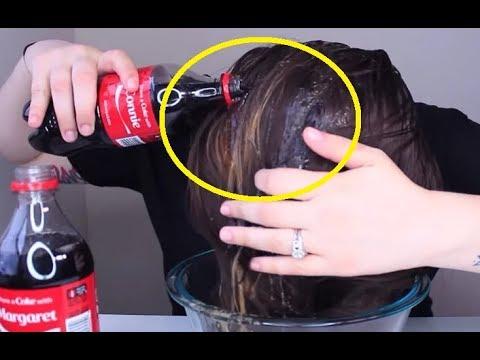 Она вымыла волосы обычной «Кока-Колой». Результат этого эксперимента шокирует