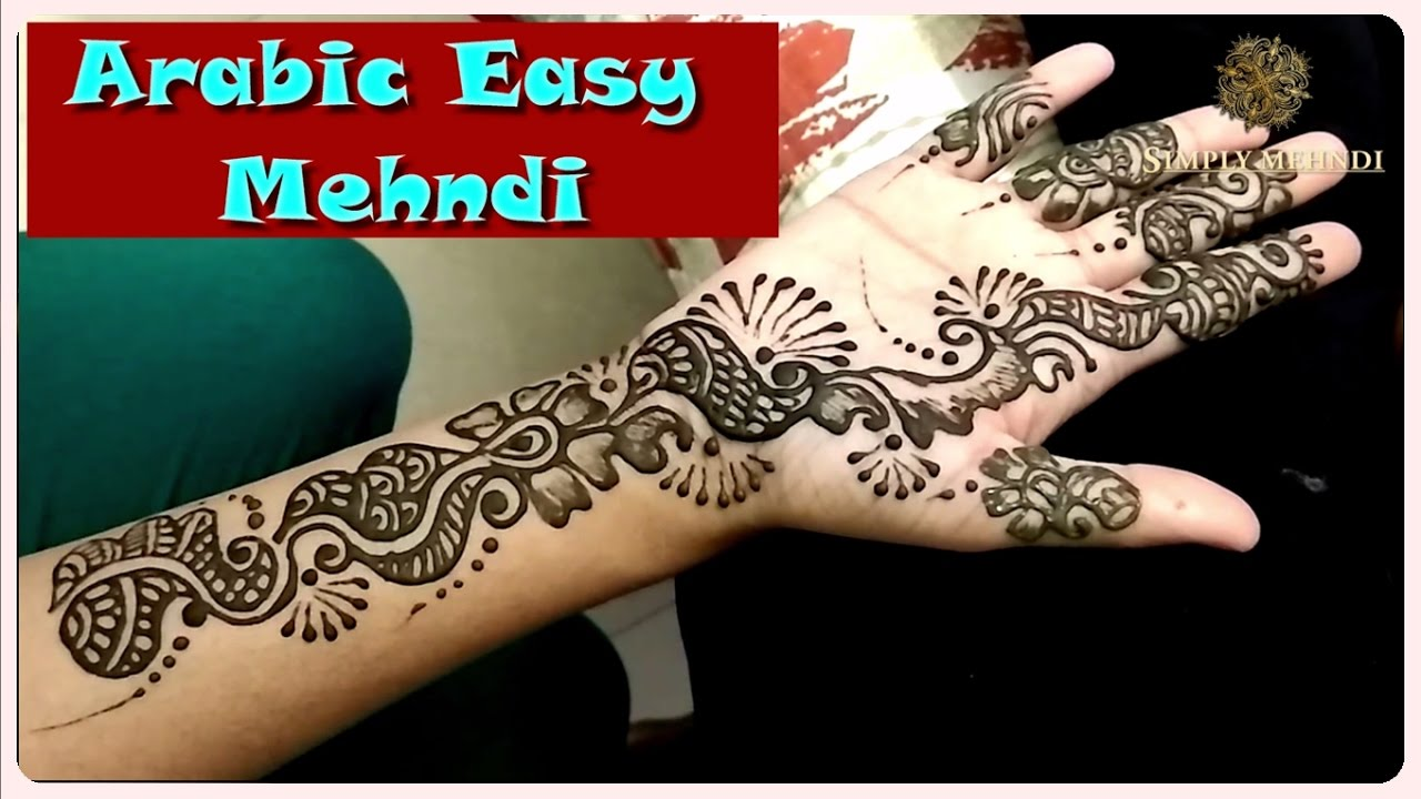 Mehndi Drawing Pictures : Simple mehndi design for hands craft ideas