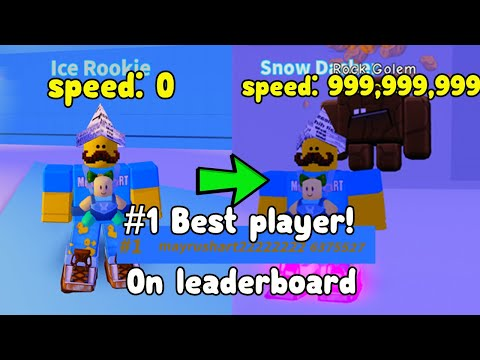 Becoming The Fastest Player! Number 1 On Leaderboard! - Ice Skating Simulator Roblox