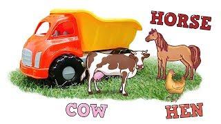Учим животных и птиц с грузовичком. Песенки на английском - Английский для детей