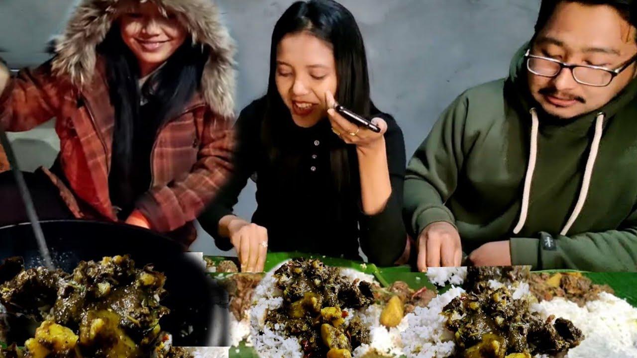 WHEN WE EAT MOROK YM SABA NGANU THONGBA || TRANG CHTLE | EATING VIDEO FUNNY DUCK CURRY MANIPUR