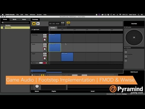 Game Audio | Footstep Implementation | FMOD & Wwise