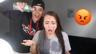 ANNOYING MY GIRLFRIEND WHILE SHE DOES HER MAKEUP PRANK *Gone Too Far*