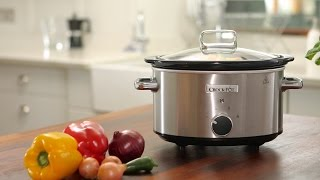 Crock-Pot 3.5L Brushed Stainless Steel Slow Cooker, CSC028