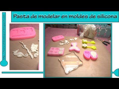 Pasta de modelar con moldes de silicona de Aliexpress