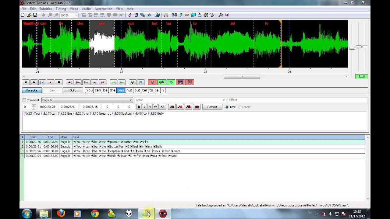Tutorial] Tổng hợp hướng dẫn làm sub nhạc lung linh ( Aegisub