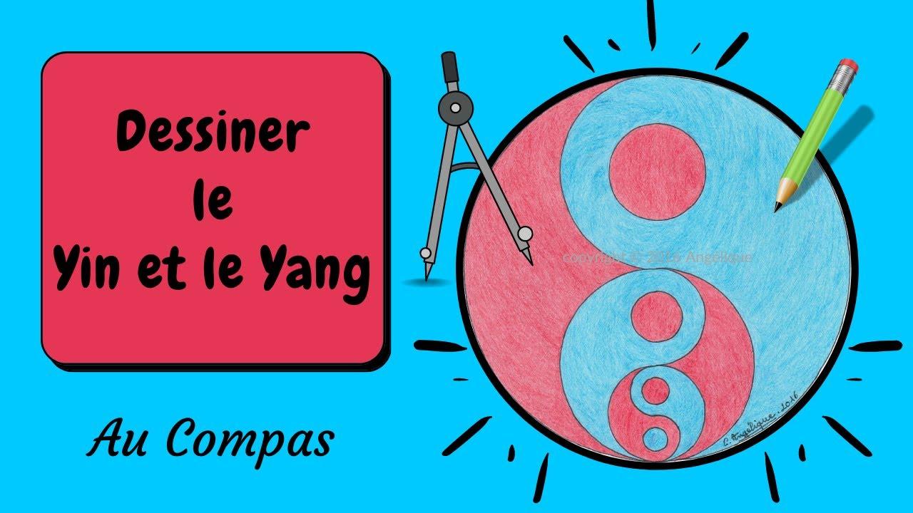 Dessin au Compas 6 [le yin et le yang] - YouTube