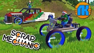 СТРОЮ ТРОНОМОБИЛЬ С LK RED MOD  GAME Scrap Mechanic  FREE DOWNLOAD  СКАЧАТЬ СКРАП МЕХАНИК !!!